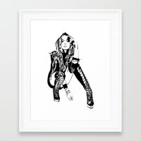 lindsay lohan Framed Art Prints featuring lindsay lohan illustration by hello Malcolm