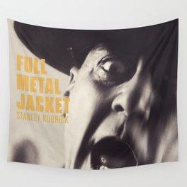 Full Metal Jacket, Stanley Kubrick, alternative movie poster, minimalist print, Vietnam War, Marines Wall Tapestry