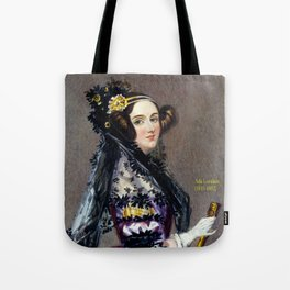 Portrait of Ada Lovelace by Alfred Edward Chalon Tote Bag