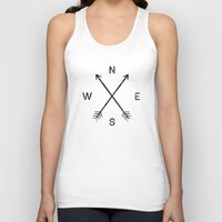 compass Tank Tops featuring Compass (White) by Zach Terrell