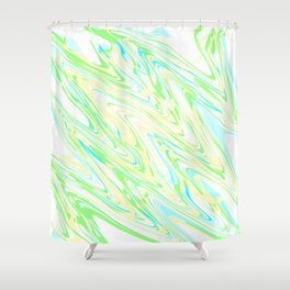 angled waves, 2 Shower Curtain