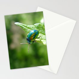 Green beetle Stationery Cards