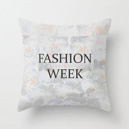 Fashion City: Fashion Week Throw Pillow