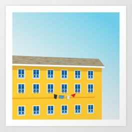 Yellow Building Art Print