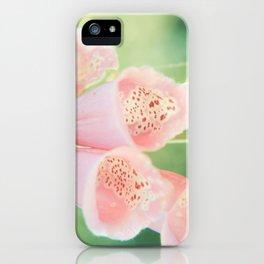 Pastel Foxgloves iPhone Case