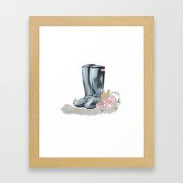 Spring Rain Boots Framed Art Print