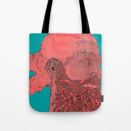 hipster Neptune Red Tote Bag