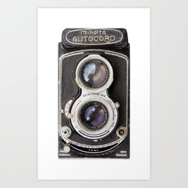 Vintage Autocord Camera Art Print