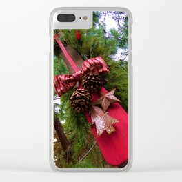 Christmastime Decor Clear iPhone Case
