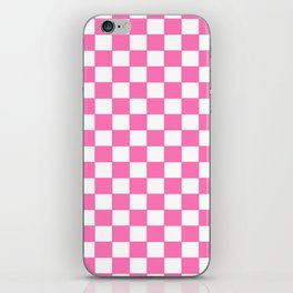 Checkers - Pink and White iPhone Skin