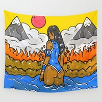 korra Wall Tapestries featuring Korra by TheArtGoon