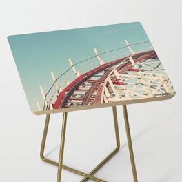 Coast - Vintage Santa Cruz Roller Coaster Side Table