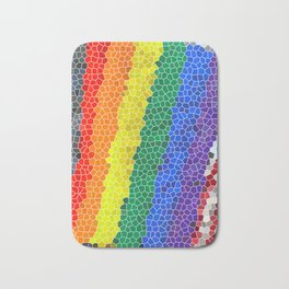 Mosaic Effect Rainbow Flag Photo Illustration Bath Mat