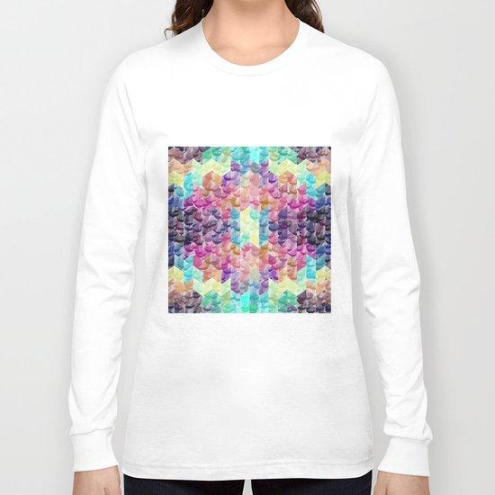 Crystal geometric Background Long Sleeve T-shirt