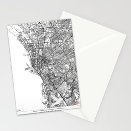 Manila Map White Stationery Cards