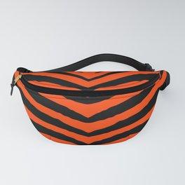 Orange Neon and Black Zebra Stripe Fanny Pack