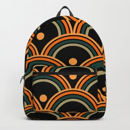Midnight Citrus Pattern No 08 Backpack