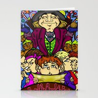 willy wonka Stationery Cards featuring Willy Wonka by Carol Wellart