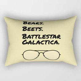 Bears. Beets. Battlestar Galactica. Rectangular Pillow