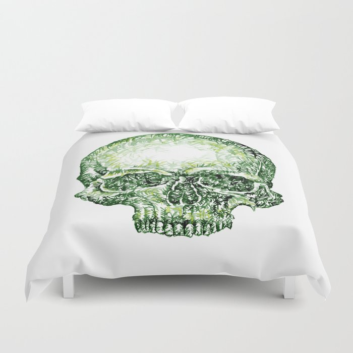 Tropical Skull ! Duvet Cover