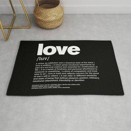 Define LOVE w/b Rug