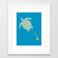 hawaii Framed Art Prints featuring Hawaii by Erik Sandi Satresa