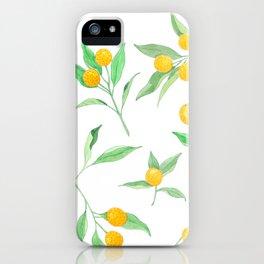 kumquat berries and leaves iPhone Case