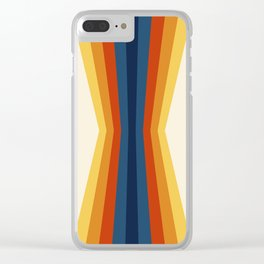 Bright 70's Retro Stripes Reflection Clear iPhone Case