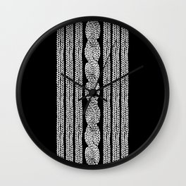 Cable Stripe Black Wall Clock