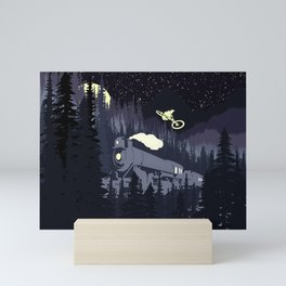 Over The Train Mini Art Print