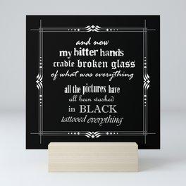 Black lyrics Mini Art Print