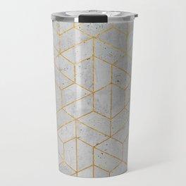 Concrete Hexagonal Pattern Travel Mug