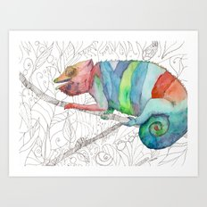 Chameleon Fail Art Print