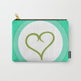 Green Heart with Love Carry-All Pouch