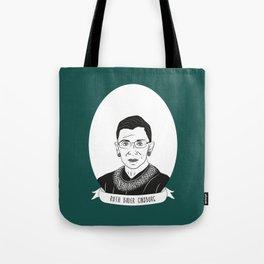 Ruth Bader Ginsburg Illustrated Portrait Tote Bag