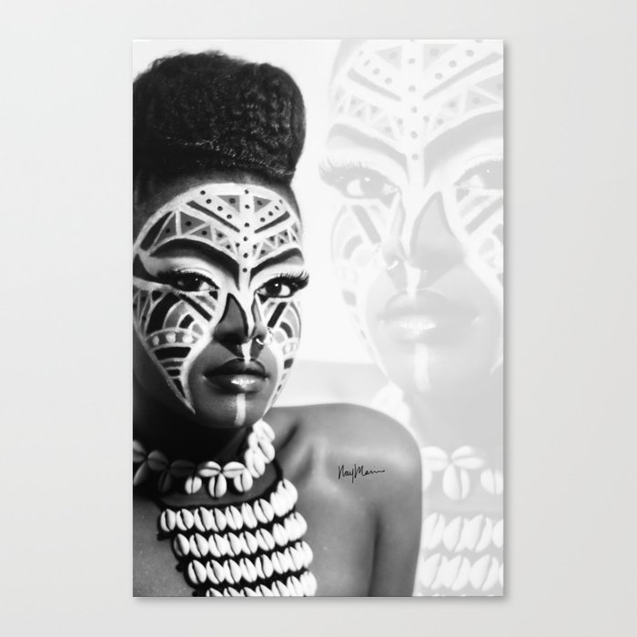 Traditional Ink Canvas Print