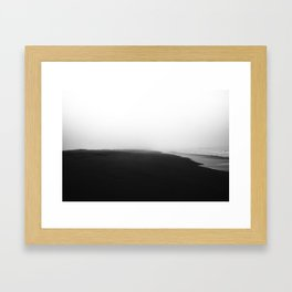 Foggy Beach Framed Art Print