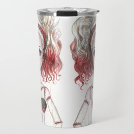 Marionette Corpse Art by Laurie Leigh Travel Mug
