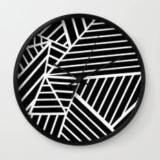 Ab Lines Zoom Black Wall Clock