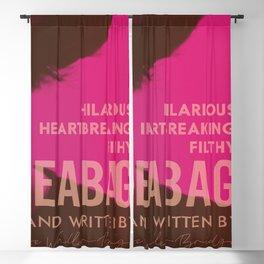 Fleabag, Phoebe Waller-Bridge, british comedy show, alternative poster Blackout Curtain