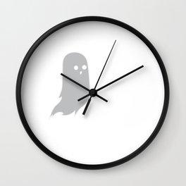 I Boo What I Want Cute Funny Ghost Halloween Wall Clock