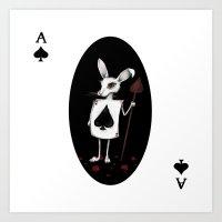 Rabbit white case Art Print