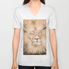 Black Maned Lion Unisex V-Neck