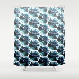 Water Honeycombs Shower Curtain