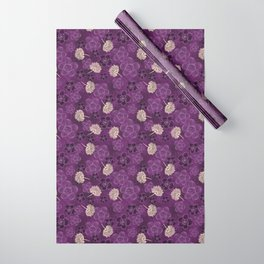 Flower power Purple Wrapping Paper