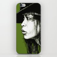erykah badu iPhone & iPod Skins featuring Erykah Badu by ChrisGreavesCreative