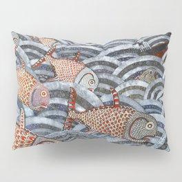 Golden Fishes Pillow Sham