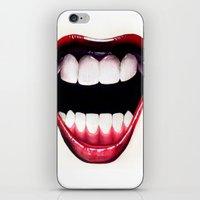 mouth iPhone & iPod Skins featuring Mouth by Shannon Gordy