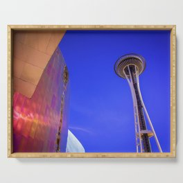 Seattle space Needle Serving Tray