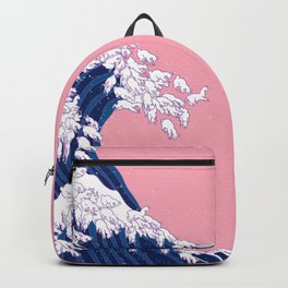 Llama Waves in Pink Backpack